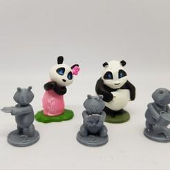 Download free 3D model Takenoko Chibis baby panda minis, AJade