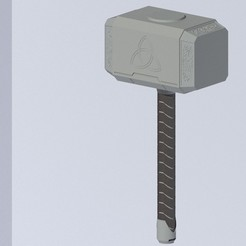 Mjolnir Frente.jpeg Download STL file Mjolnir • 3D printer template, Tabulador