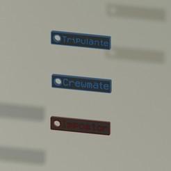 Placas 2.jpeg Download free STL file Among us - Keychain • 3D printable model, Tabulador