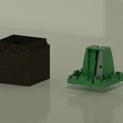 Sacapuntas abierto.jpeg Download STL file Minecraft Sharpener • Design to 3D print, Tabulador