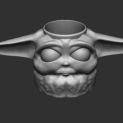 Descargar diseños 3D Baby Yoda Cup tasa mate, Taller-B