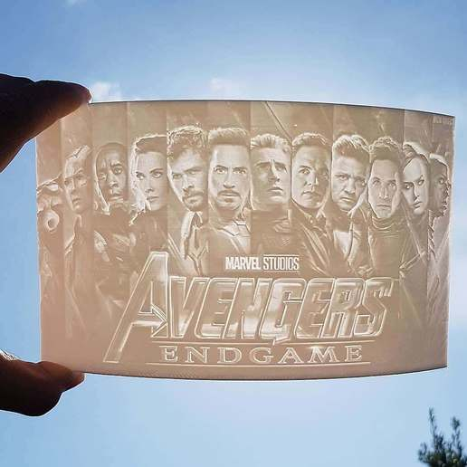 Download free 3D print files Avengers Endgame Lithopane, everything3dprinting
