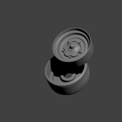 roda vw antiga.png Download STL file roda vw antiga • 3D printer template, Maur0
