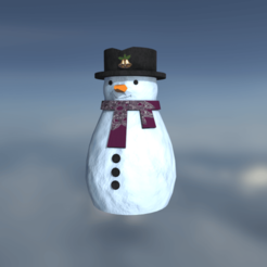 0.png Download 3DS file Christmas Snowman • 3D printable template, SimonTGriffiths