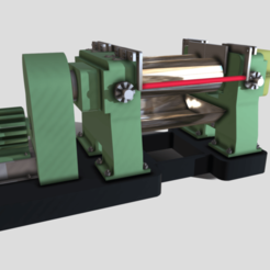 A0.png Download 3DS file Machinery - Two Roll Rubber Mill • Model to 3D print, SimonTGriffiths