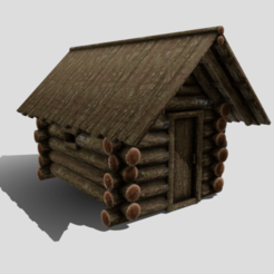 A0.png Download 3DS file Medieval Cabin • 3D printer object, SimonTGriffiths