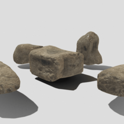 A1.png Download 3DS file Stylized Rock Pack • 3D printing model, SimonTGriffiths