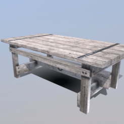 Download 3D printer model Farmhouse Table, SimonTGriffiths