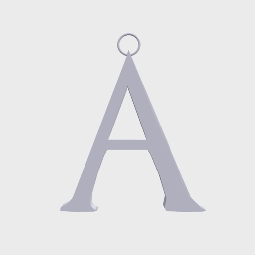 Download 3D printer designs Game of Thrones letter A, SimonTGriffiths