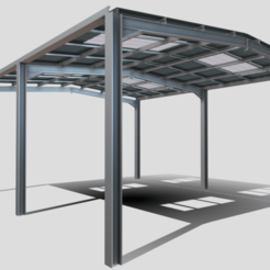 Download 3D model Empty warehouse steelwork, SimonTGriffiths