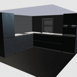 k0.png Download OBJ file Modern Kitchen  • 3D printing design, SimonTGriffiths