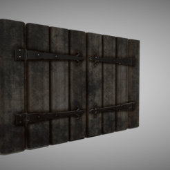 a0.png Download 3DS file Medieval Window Shutter • Template to 3D print, SimonTGriffiths