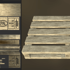 A.png Download 3DS file Euro Pallet • 3D printable template, SimonTGriffiths