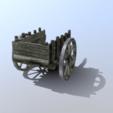Download 3D printer designs Low-poly medieval cart prop, SimonTGriffiths