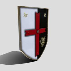 A0.png Télécharger fichier 3DS Bouclier stylisé médiéval • Objet imprimable en 3D, SimonTGriffiths