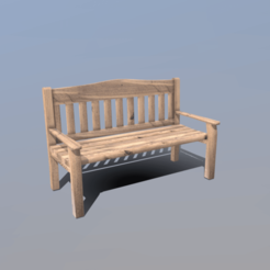 Download 3D printing designs Garden Bench, SimonTGriffiths