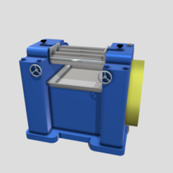 A0.png Download 3DS file Machinery - Triple Roll Pigment Mill • 3D printable design, SimonTGriffiths