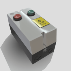 Download 3DS file Electrical Motor Starter Panel • 3D printable object, SimonTGriffiths