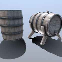 Download 3D printer designs Medieval Barrel Set, SimonTGriffiths