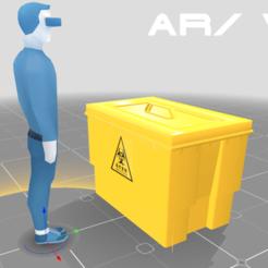 0.png Télécharger fichier 3DS Poubelle pour déchets médicaux • Objet pour impression 3D, SimonTGriffiths