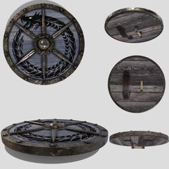 0.png Télécharger fichier 3DS Bouclier rond Viking • Modèle pour impression 3D, SimonTGriffiths