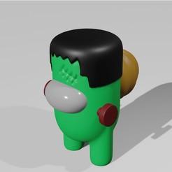 portada.jpg Télécharger fichier STL PARMI NOUS HALLOWEEN - FRANKENSTEIN • Modèle imprimable en 3D, aprendolol