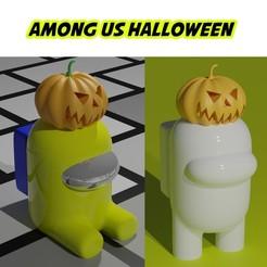 HALLOWEEN PORTADA.jpg Télécharger fichier STL PARMI NOUS HALLOWEEN, CITROUILLE • Design pour imprimante 3D, aprendolol