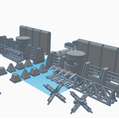 Download STL file Urban Barrier Set for Wargames - Tank Trap / Obstacle • 3D printable model, 40Emperor
