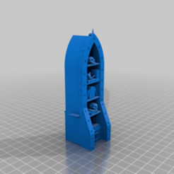 Grimdark_BookCase_02.png Download free STL file Grim Dark Bookcase • 3D printer object, 40Emperor