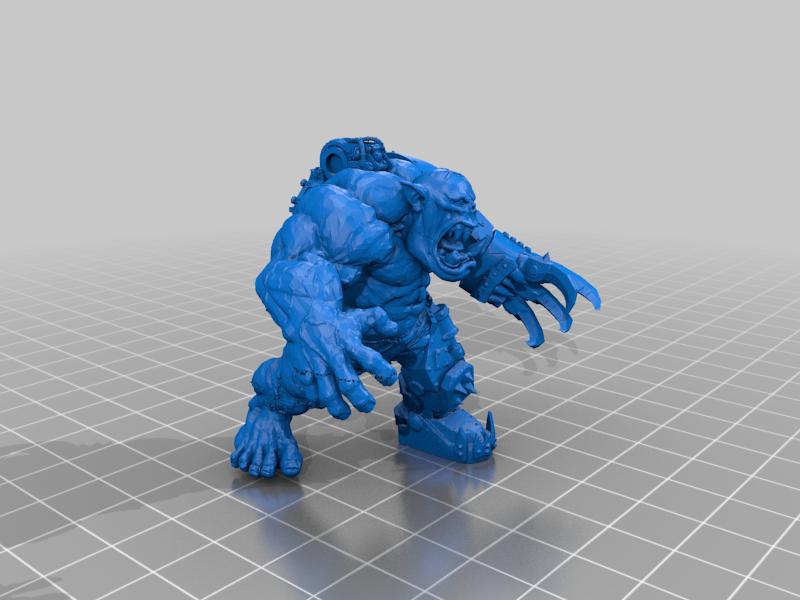 Ultra_Hulky_Mega_Ork_Nob.png Télécharger fichier STL gratuit Ultra Hulky Mega Ork Nob • Plan imprimable en 3D, 40Emperor