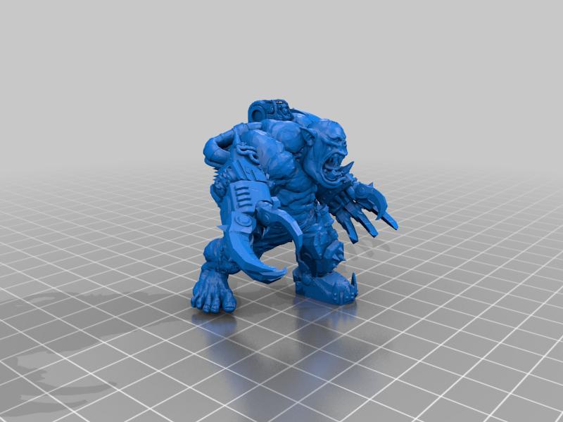 Double_Klaw_Git_Nob.png Télécharger fichier STL gratuit Ultra Hulky Mega Ork Nob • Plan imprimable en 3D, 40Emperor