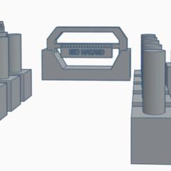 Roadblock Check point pack.png Descargar archivo STL Paquete de bloqueo para 40K, Necromunda, Infinity, Deadzone y Kill Team. • Diseño imprimible en 3D, 40Emperor