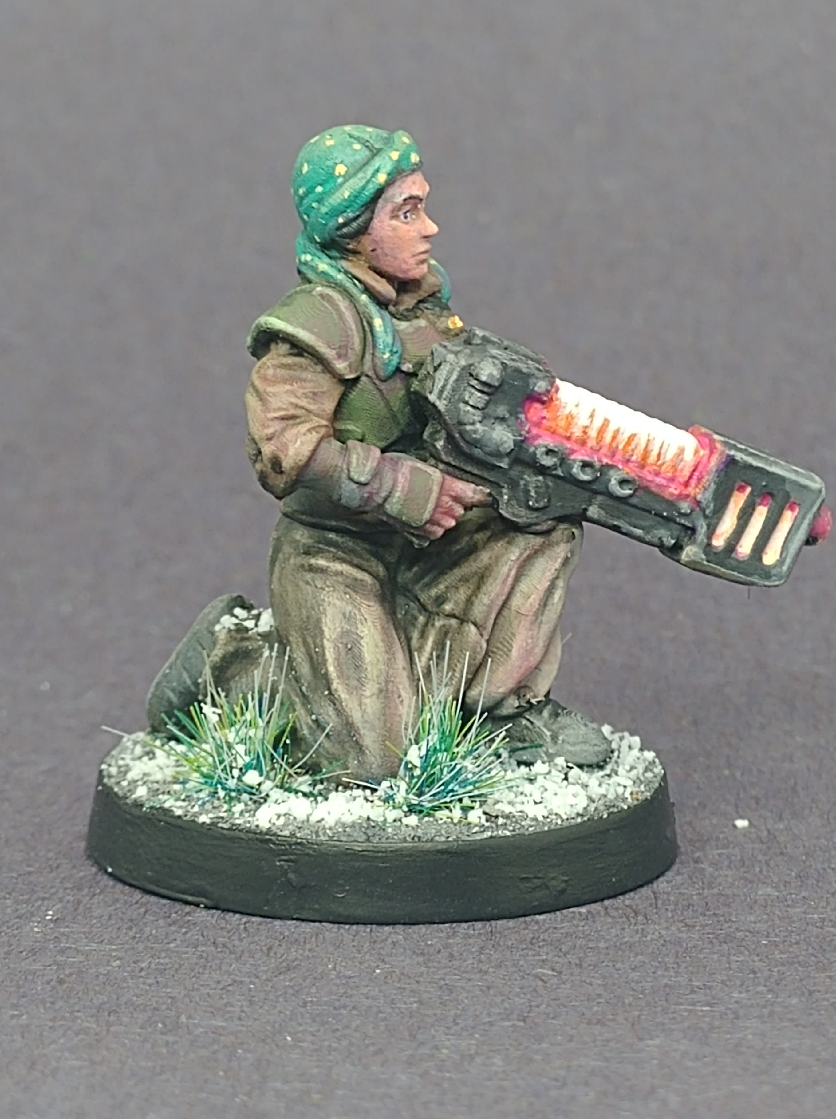 take the knee 2.jpg Download free STL file Female Guard - Guardswoman - Azadi Death Front Plasma Trooper • 3D printing template, 40Emperor