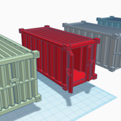 Container set 40 Emperor.png Download STL file Ultimate Shipping Container set for games like Warhammer 40k, Necromunda, Kill Team, Infinity, and Deadzone • 3D printing template, 40Emperor