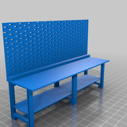workbench_pegboard.png Download free STL file 40k Necromunda Warhammer Workbench Set • Template to 3D print, 40Emperor