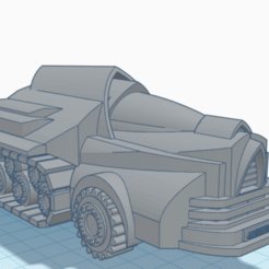 Download STL file Civilian Vehicle for Warhammer 40k - Scifi Car • 3D printer design, 40Emperor