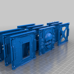 Batch_o_Bulkheads.png Download free STL file Batch o Bulkheads - For Scenic Crafters (necromunda) • Model to 3D print, 40Emperor