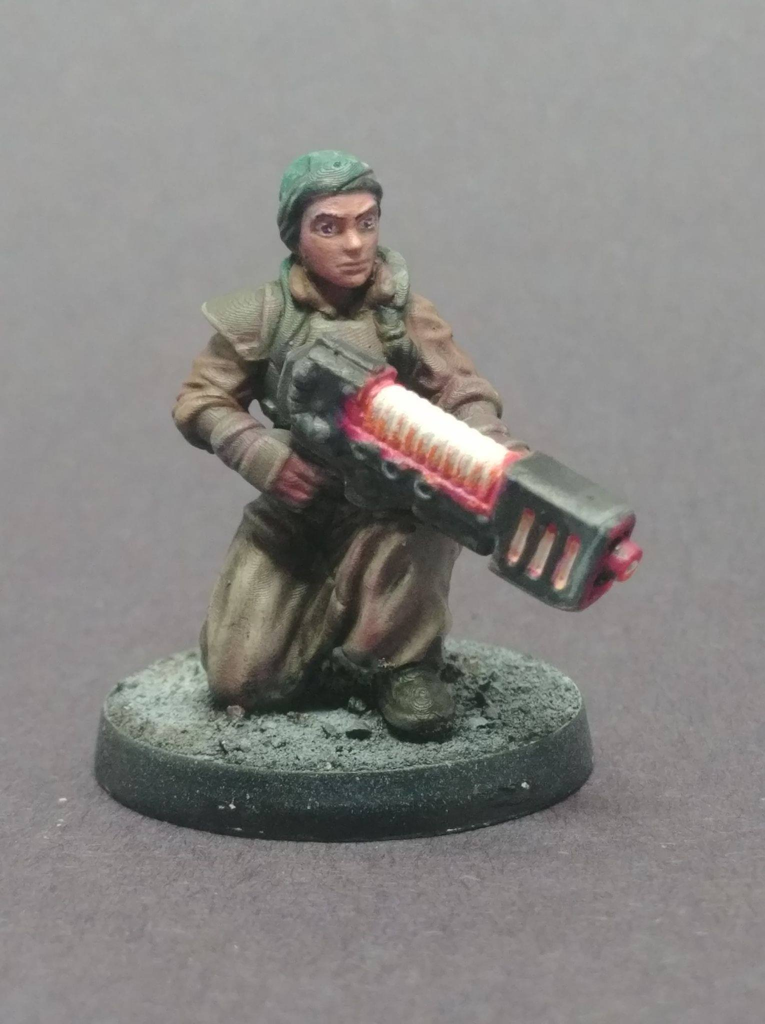 take a knee.jpg Download free STL file Female Guard - Guardswoman - Azadi Death Front Plasma Trooper • 3D printing template, 40Emperor