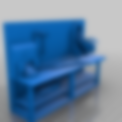 workbench_drawers.stl Download free STL file 40k Necromunda Warhammer Workbench Set • Template to 3D print, 40Emperor