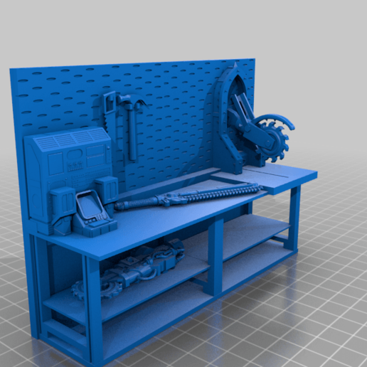 workbench_Geared_Improved_for_printing.png Download free STL file 40k Necromunda Warhammer Workbench Set • Template to 3D print, 40Emperor