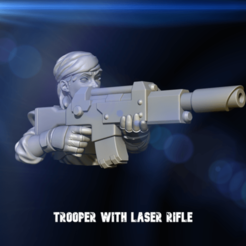 las0r_tr00p0r.png Download free STL file Alternative Guard Model with Laser Rifle - Female Guardswoman • Object to 3D print, 40Emperor