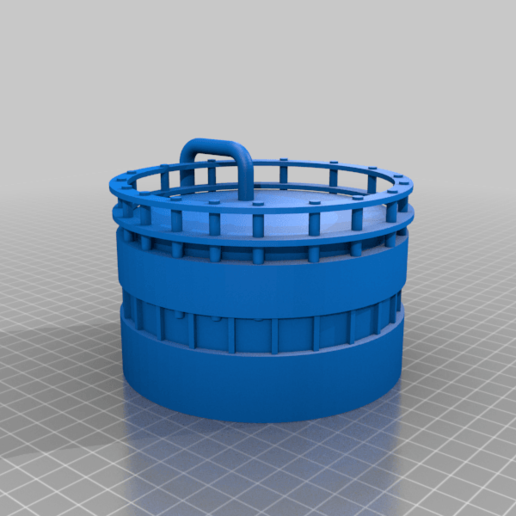 Modular_Silo_Top_Tier_Alternative.png Download free STL file Wargame Scenery Silo Set - Refinery - Mechanicus • 3D printable object, 40Emperor