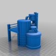 Silo_E.png Download free STL file Wargame Scenery Silo Set - Refinery - Mechanicus • 3D printable object, 40Emperor
