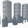 The_Mega_Fun_Silo_Set_for_Wargamers.png Download free STL file Wargame Scenery Silo Set - Refinery - Mechanicus • 3D printable object, 40Emperor