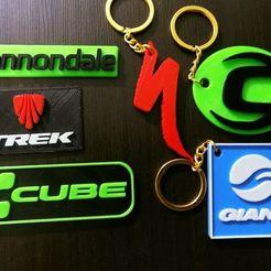 Impresiones 3D keychain cannondale,trek, scott, specialized, cube, giant, venzo, BMC, faqezequiel
