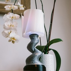 Download free STL file Low-poly Twist Mood Lamp • 3D printer template, Electromaker_Kits