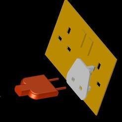 presa e spina 2.JPG Télécharger fichier STL Adattatore presa corrente UK • Design imprimable en 3D, FreddyeGal