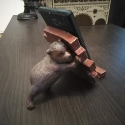 IMG_20191024_180640.jpg Download OBJ file Teddy bear phone holder • 3D printable design, zexman