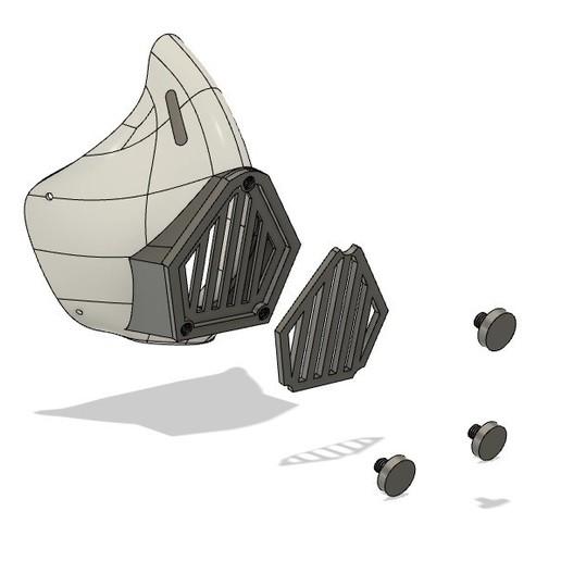 Descargar modelo 3D gratis Máscara Covid, sergedenni