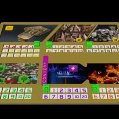 Descargar diseños 3D gratis Tablero de juego TM 20x16cm (7.87x6.3in), lenaicdupin